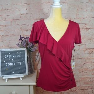 Laundry Shelli Segal Hot Date Fuchsia Blouse A7